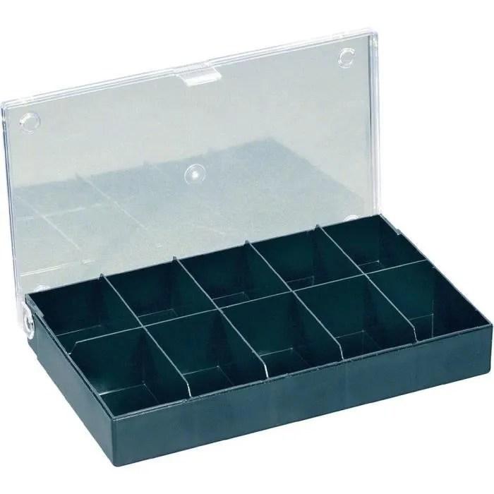 boite de rangement avec 10 compartiments