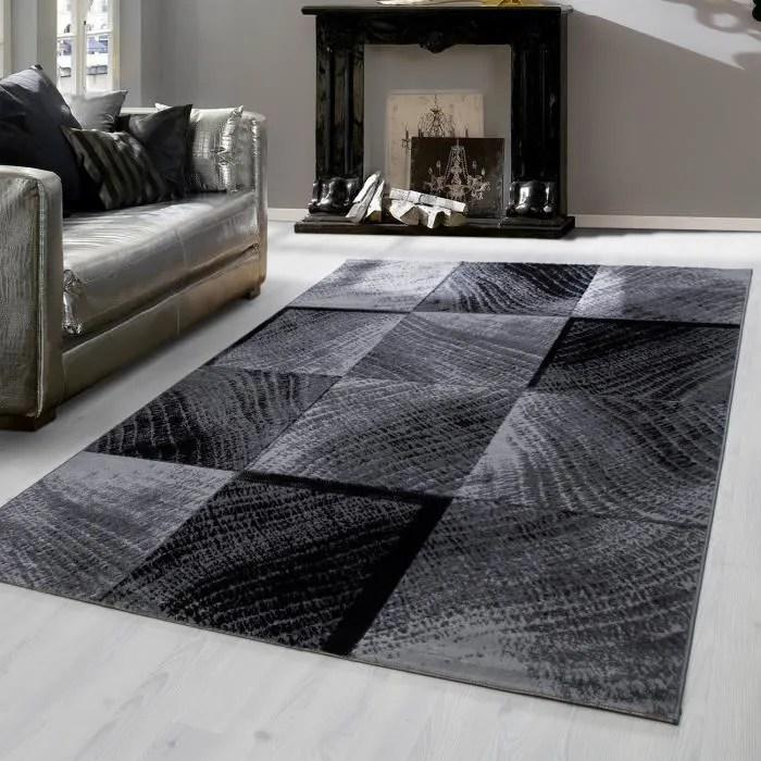 tapis court design moderne pour salon salle a man
