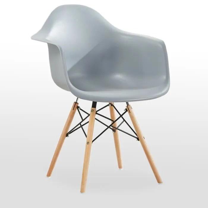 Chaise Avec Accoudoirs Moda Romano Grise Design Scandinave