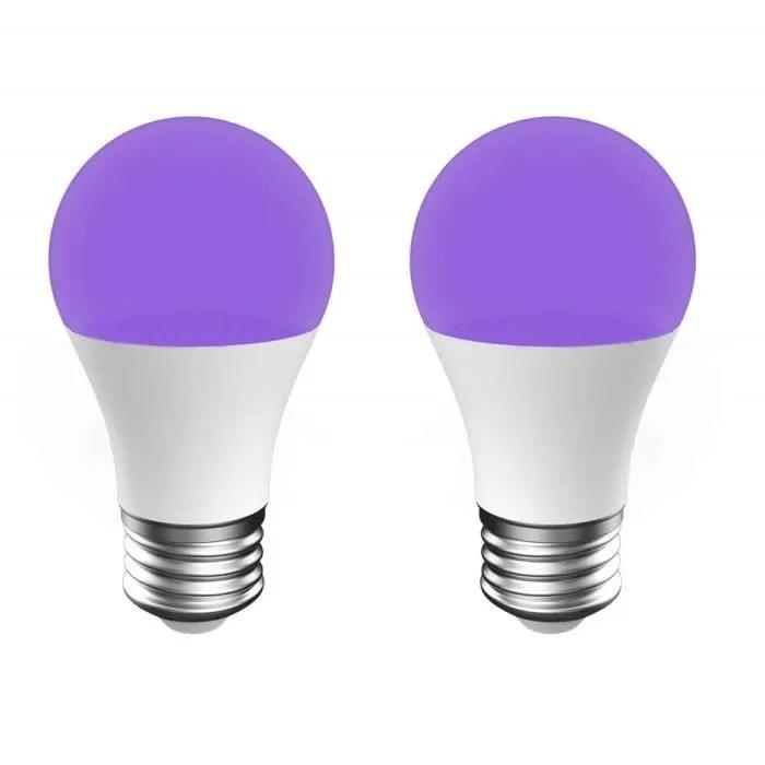 Onforu 2 Ampoule Uv 7w Ampoule Lumiere Noire E27 100 240v Lampe De Lumiere Violette Led Lumiere Noire Niveau Uv A Pour Eff Cdiscount Maison