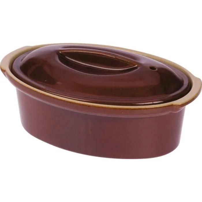 terrine gres ovale avec couvercle 20 x 12 0 5