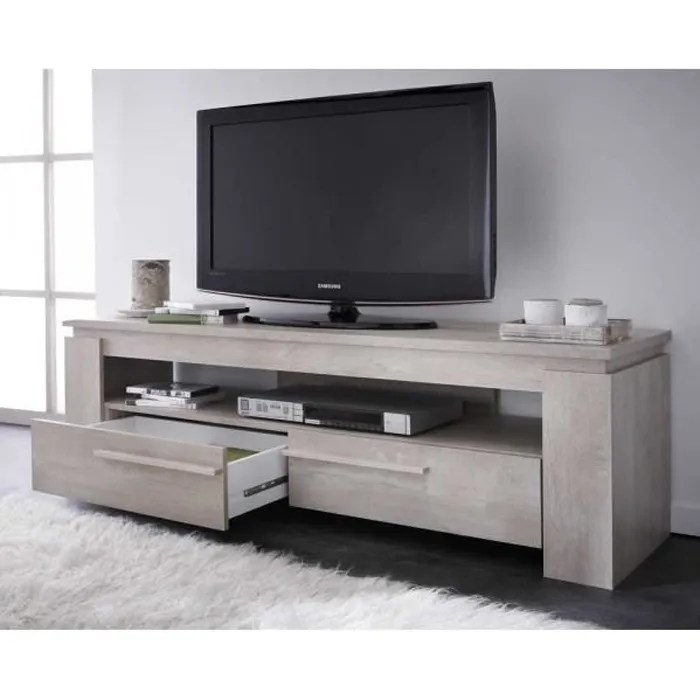 meuble tv bois couleur chene clair