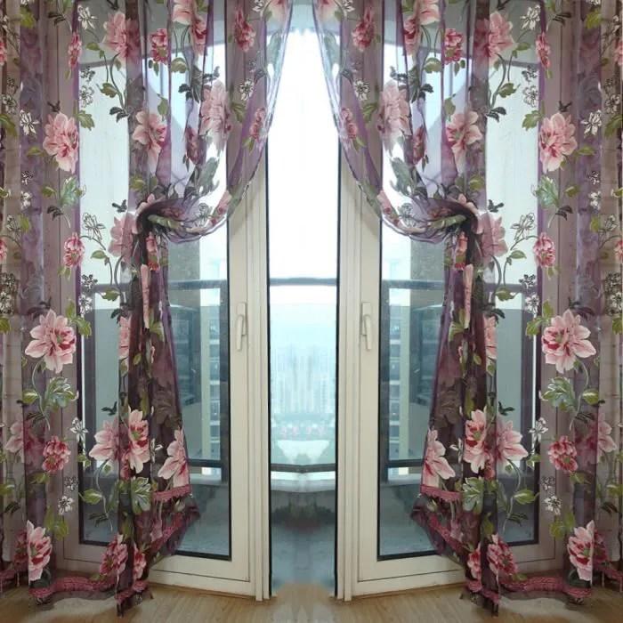 vococal rideau voilage fleur motif largeur 100x25