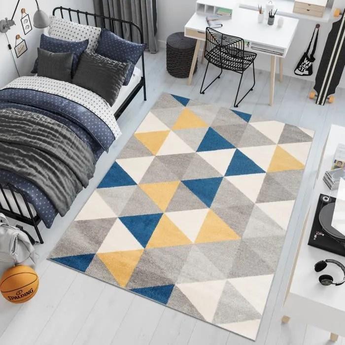 tapiso lazur tapis de salon chambre ado moderne tr