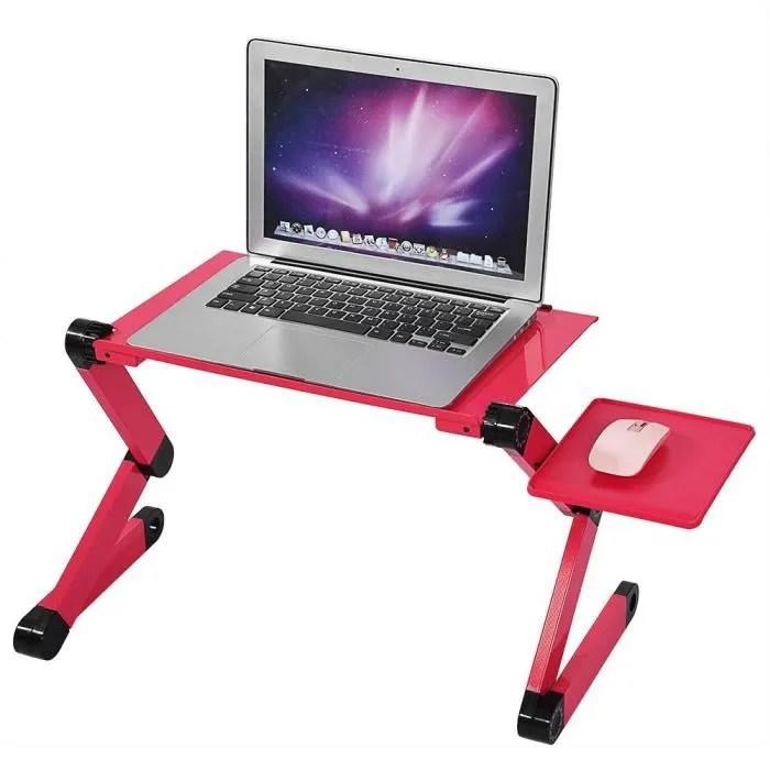 plateau de table pour ordinateur portable avec support pour souris canape lit rouge