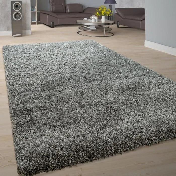 tapis salon doux shaggy poils longs moderne moelle