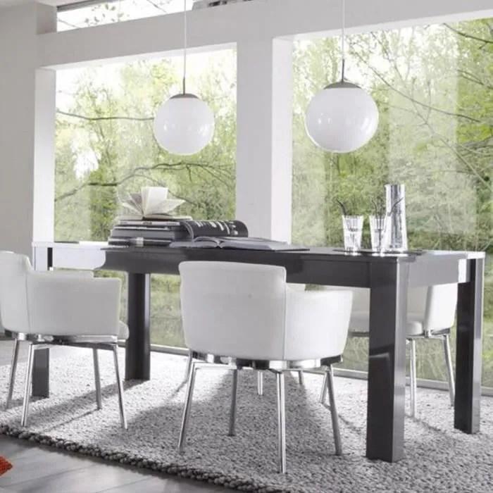 table a manger design gris laque
