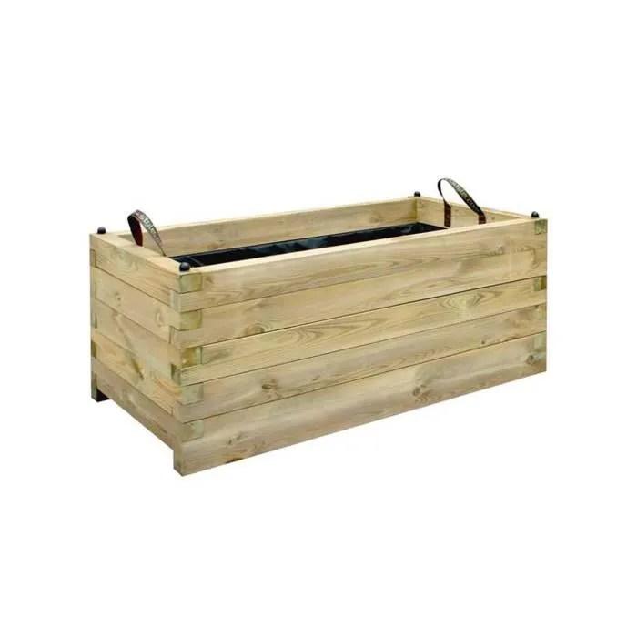jardiniere rectangle bois