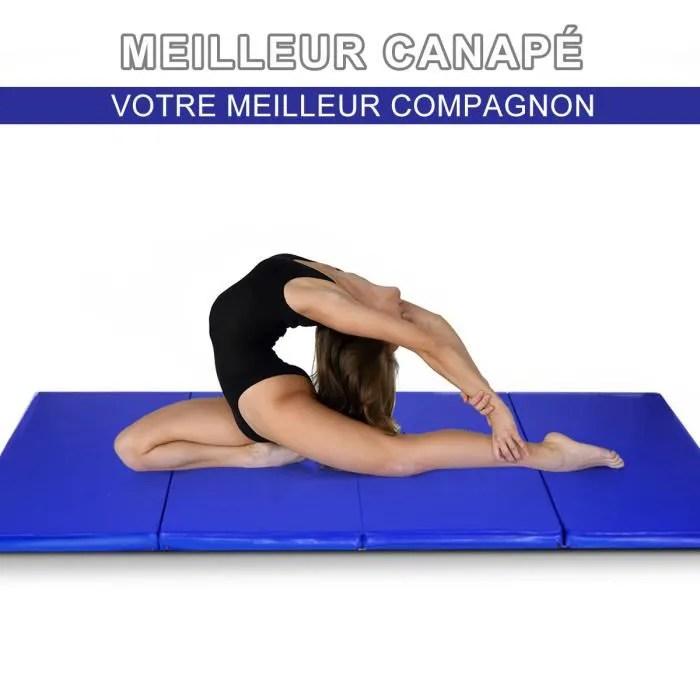 giantex tapis de sol pliable 240x120x5 cm pour gym