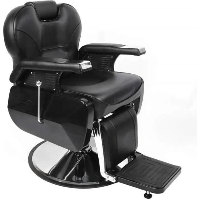 fauteuil de barbier coiffeur classic hydraulique inclinable barber reclinable 360 avec chrome repos pied pour salon professionnel