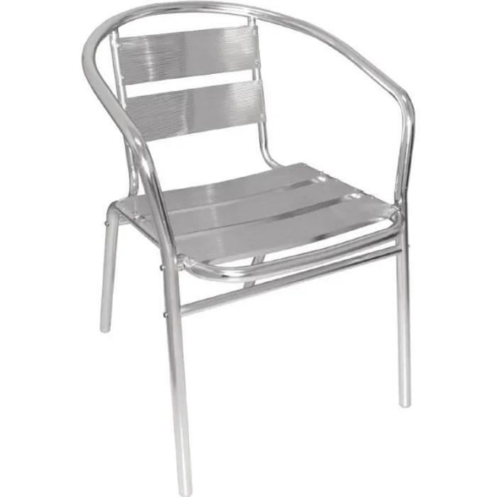 fauteuils empilables en aluminium bolero lot de 4