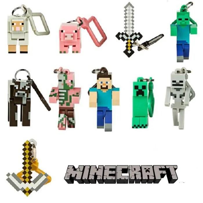 10 Pcs Minecraft Figurine Porte Cles Cdiscount Bagagerie Maroquinerie