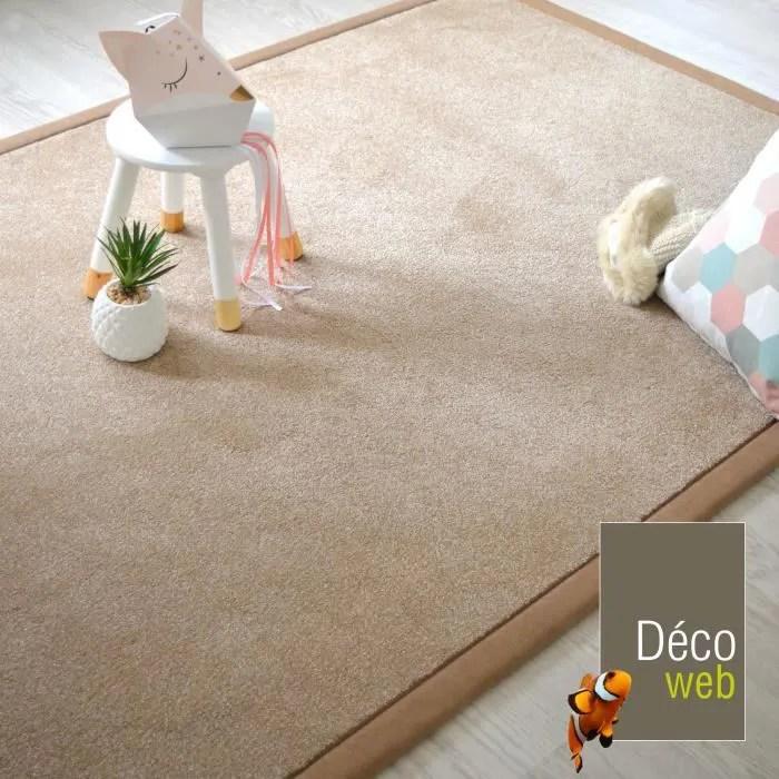 tapis 160 x 230 cm velours hygge beige ganse che