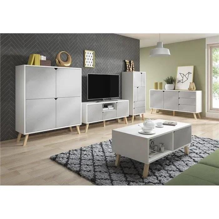 pcs meuble tv commode table basse