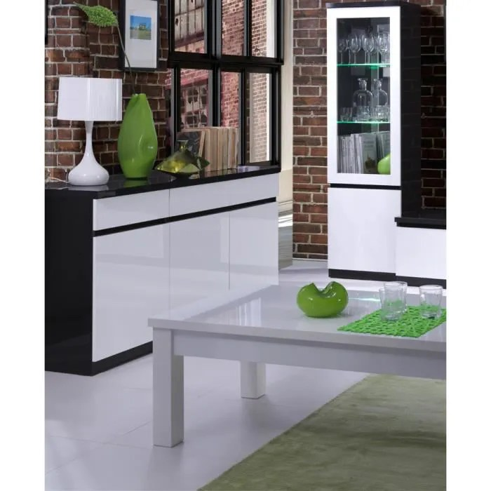 meuble de salle a manger noir et blanc