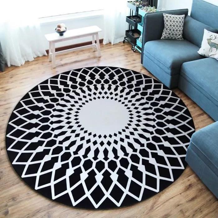 tapis rond moderne simple tapis tapis de porte sal