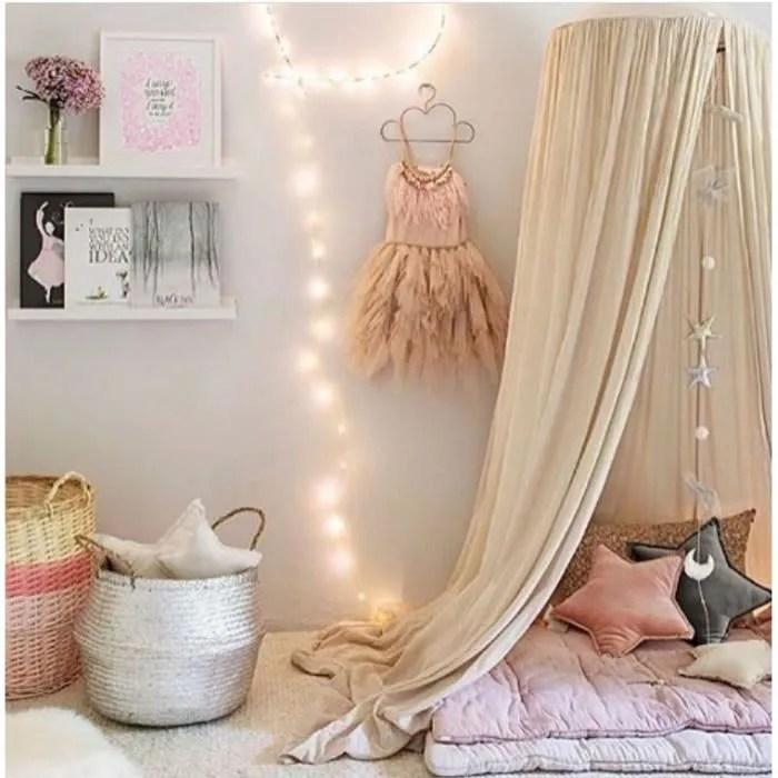 ciel de lit enfant baldaquin rideaux de lit tente