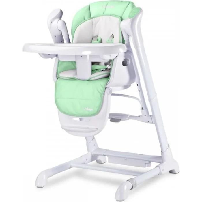 Indigo Chaise Haute Balancelle Bebe Musicale 2en1 Motorisee Vert