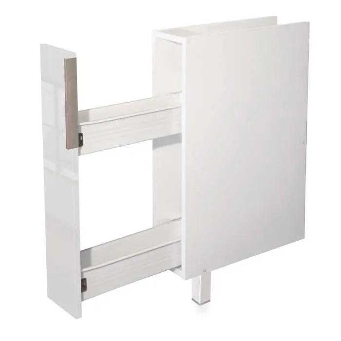 pop meuble bas de cuisine a epices l 15 cm blanc