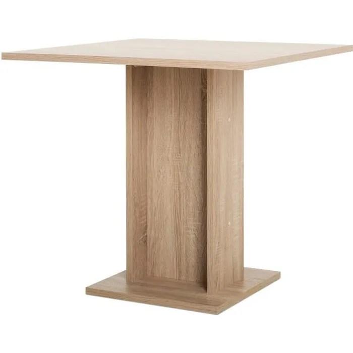 gustave table a manger carree de 2 a 4 personnes classique decor chene l 80 x l 80 cm