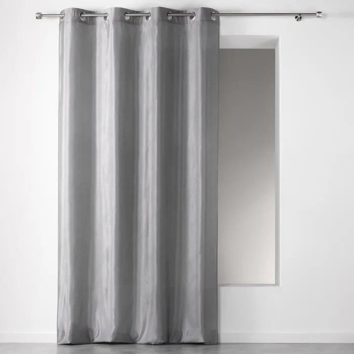 rideau oeillets 140x260 scintille gris