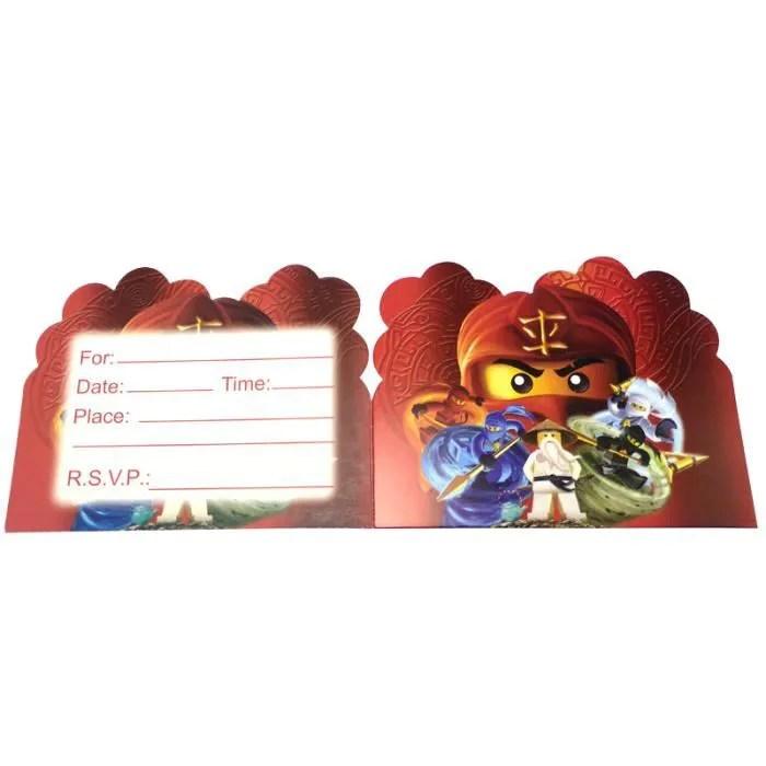 cartes d invitation theme ninjago fournitures de
