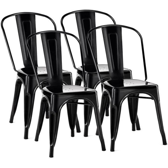 chaise noir mat