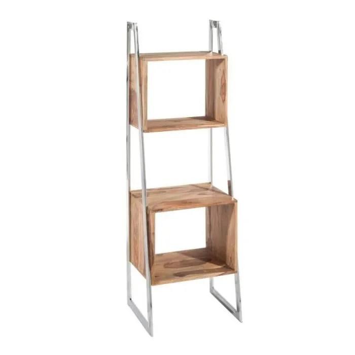 meuble etagere design bois et metal