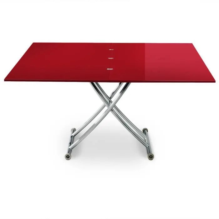 table basse relevable carrera xl rouge