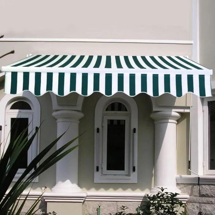 costway store banne de balcon retractable 3 x 2 5m