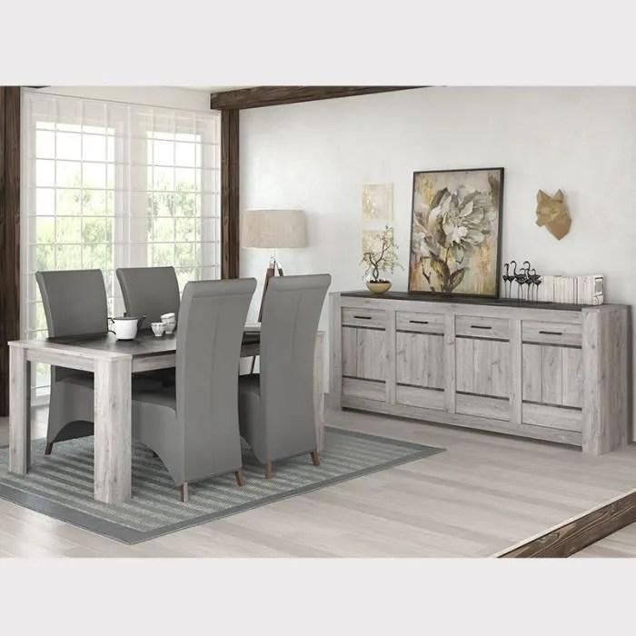 salle a manger moderne couleur chene gris camelia gris l 180 x p 100 x h 78 cm