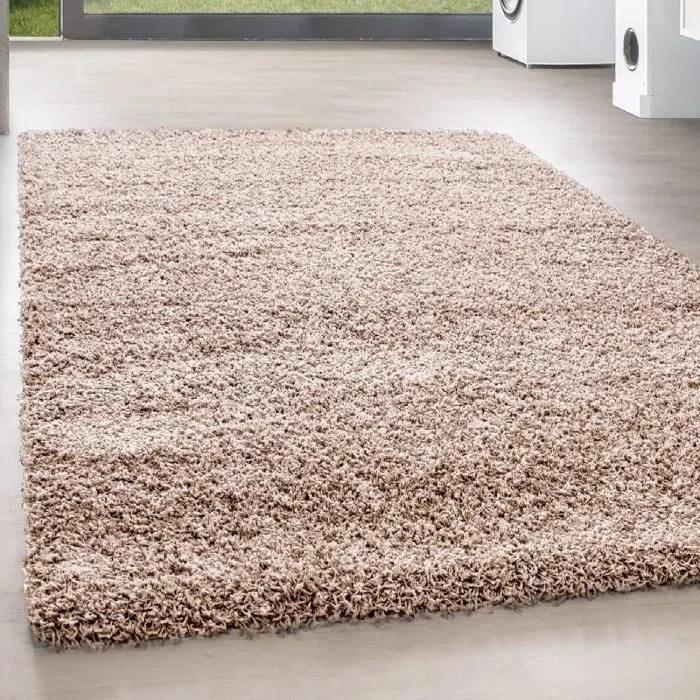 shaggy shaggy long pile pas cher beige tapis salon