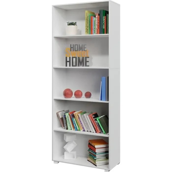 etagere bibliotheque blanc 190 cm meuble de rangem
