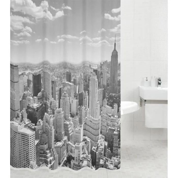rideau de douche skyline new york 180 x 180 cm d