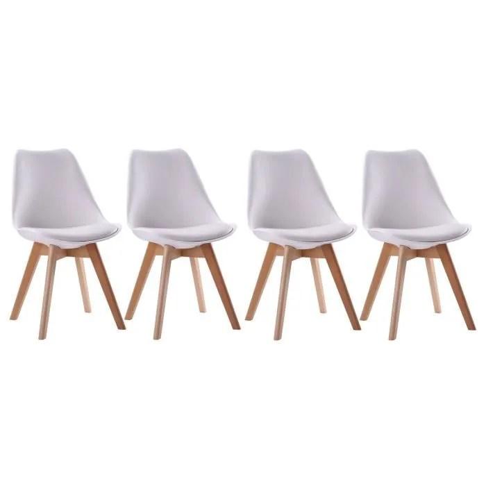 lot de 4 chaises scandinave nora