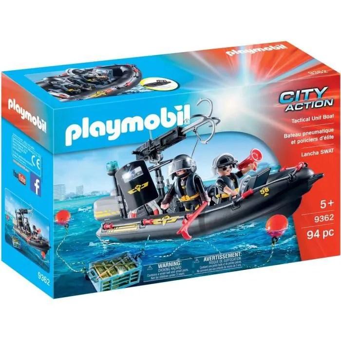 playmobil 9362 city action bateau pneumatique