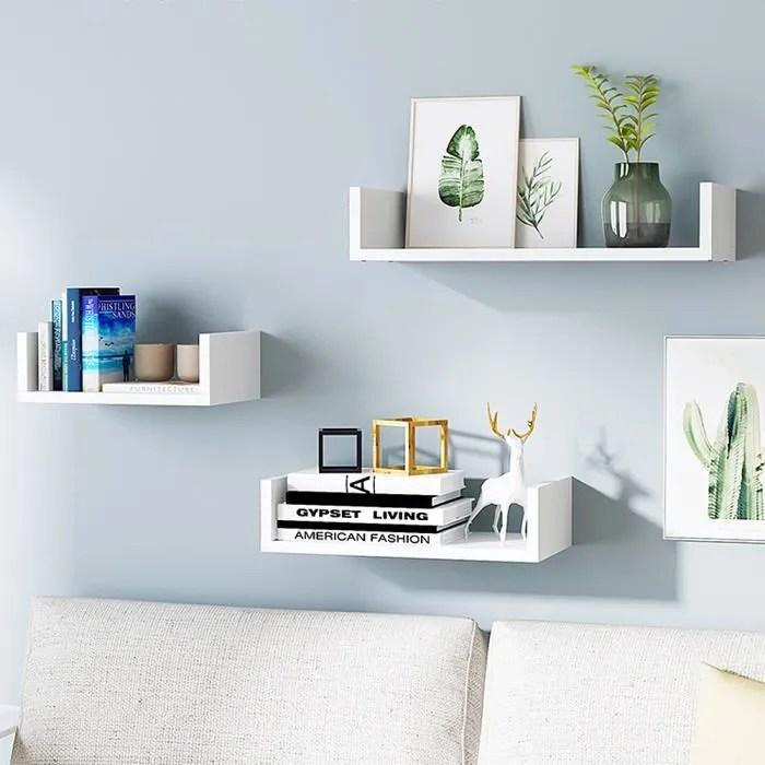 miss etageres murales etagere a livres petit meuble de rangement lot de 3