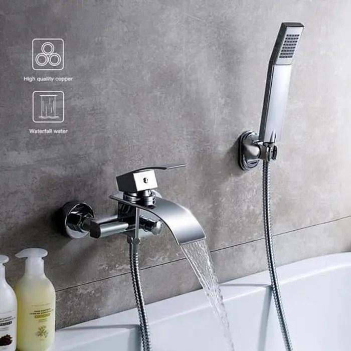 robinet de bain carre mitigeur de baignoire cascad