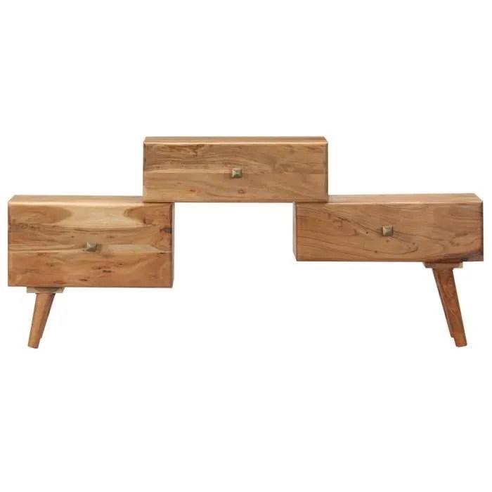 meuble hifi 3 tiroirs design moderne bois d ac