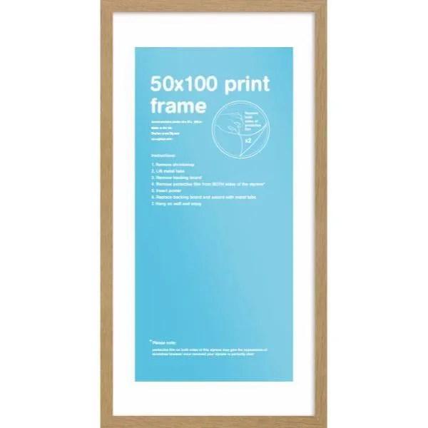 cadre pour affiches en bois mdf taille 50 x 100 cm