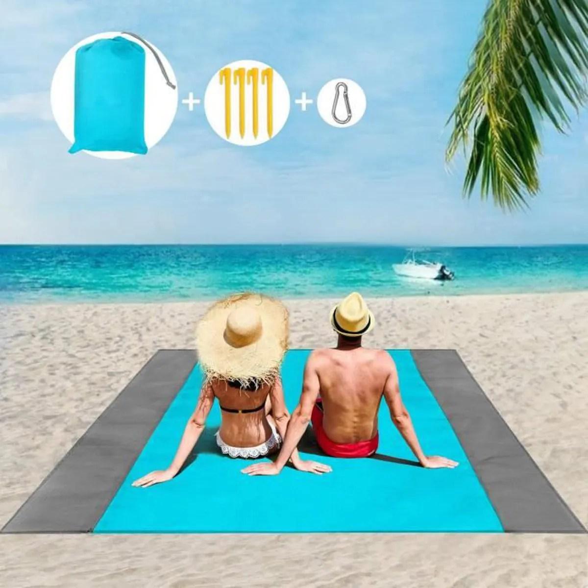 tapis de plage serviette de plage anti