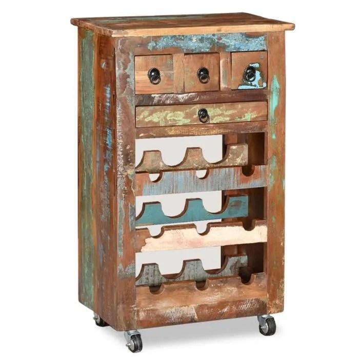 casier a bouteilles meuble range bouteille casier a vin 9 bouteilles bois massif de recuperation