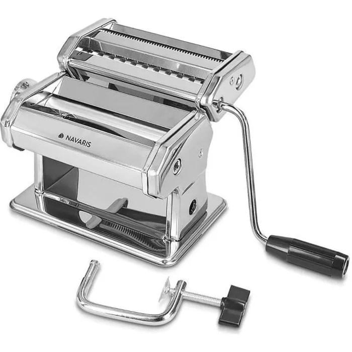 navaris machine a pates manuelle laminoir pour pates fraiches spaghetti lasagne tagliatelle appareil avec 9 epaisseurs