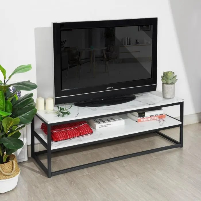 meuble tv multifonction table basse d appoint 120x