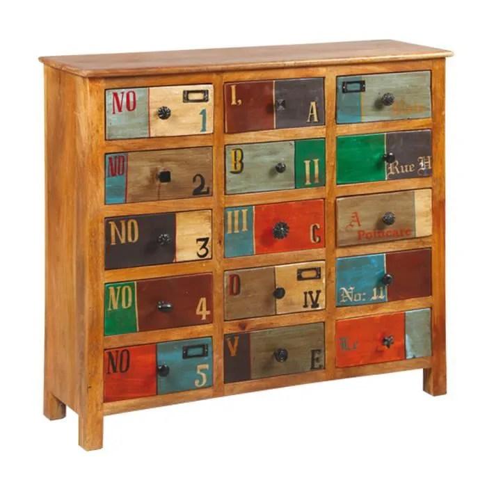 meuble de rangement bois naturel