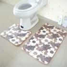 2pcs tapis de toilette antiderapant pour salle de