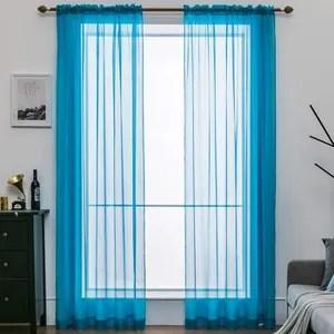 rideau bleue