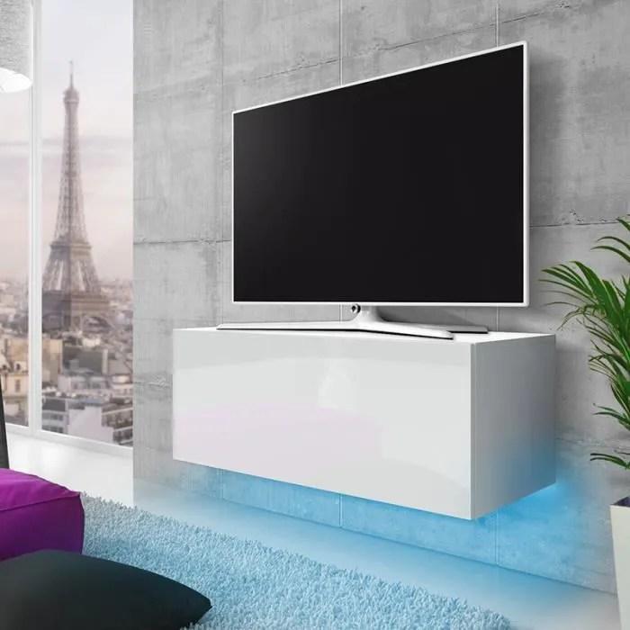 meuble tv suspendu banc tv avec led