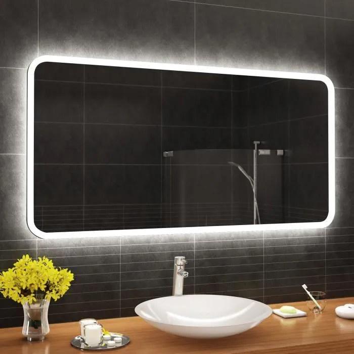 artforma l59 160x50 cm illumination led miroir sur mesure eclairage salle de bain