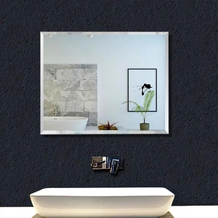 miroir mural rectangulaire 45x60cm installation v